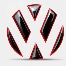 VW Golf 6 7 Polo Silikon 3D Emblem ECKEN DEKOR für Vorne TDI TSI GTI GTD GTE R
