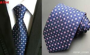 Bleu Marine Rose Cravate Fleur Fait à La Main 100% Soie De Mariage 8cm Classique Fabrication Habile