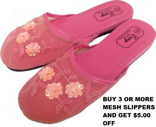 ea1128a12f9 Easy Women s Chinese Mesh Slippers ( 5.00 OFF WHEN YOU BUY 3 OR MORE).  Hover to zoom