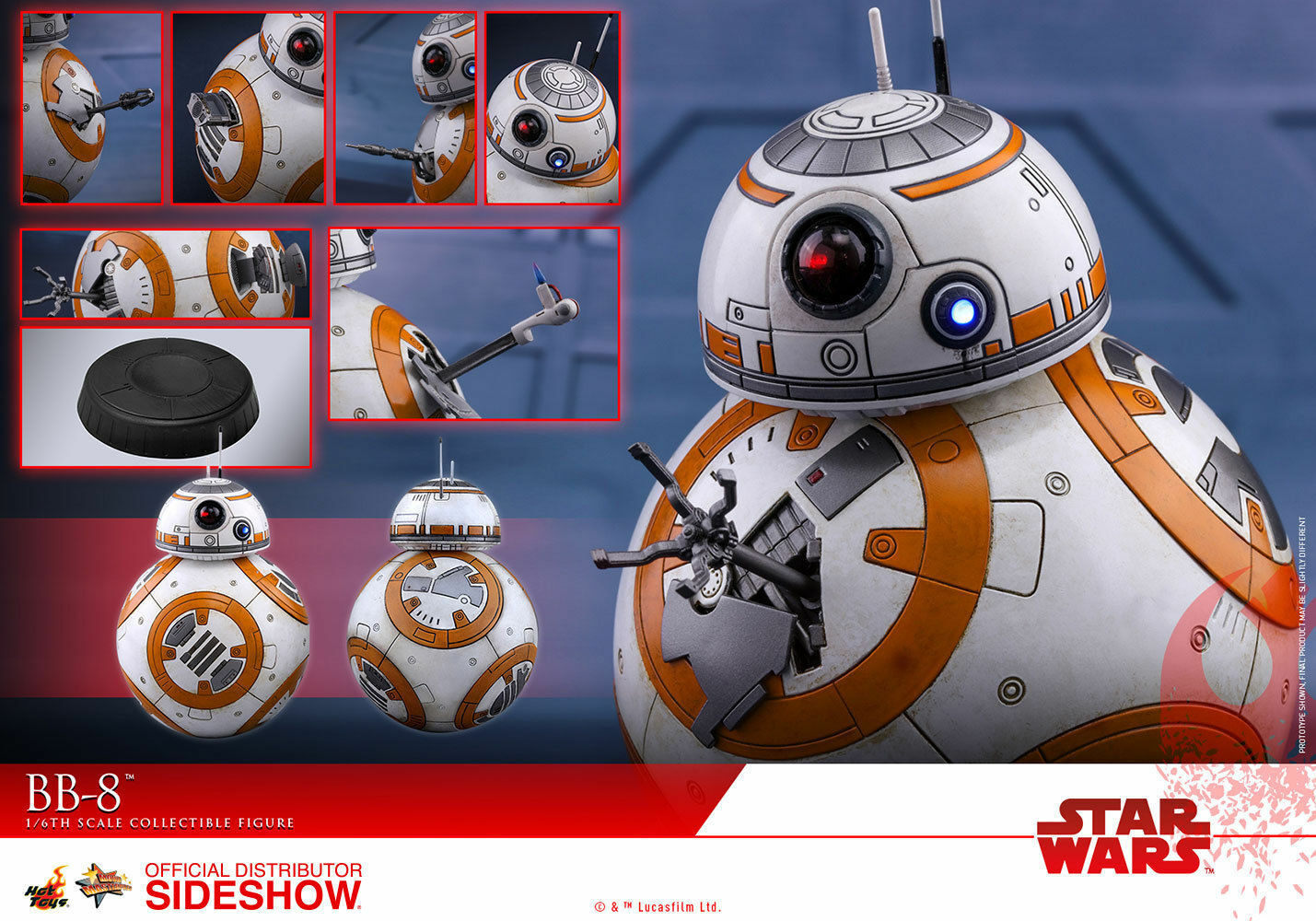 Hot Toys Star Wars BB-8 Astromech Droid 1 6 Scale Figure  New In Shipper