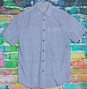Emerson-Shirt-Medium-Mens-Dress-Shirt-Formal-Button-Up-Designer-RETRO-Suit-Top-M