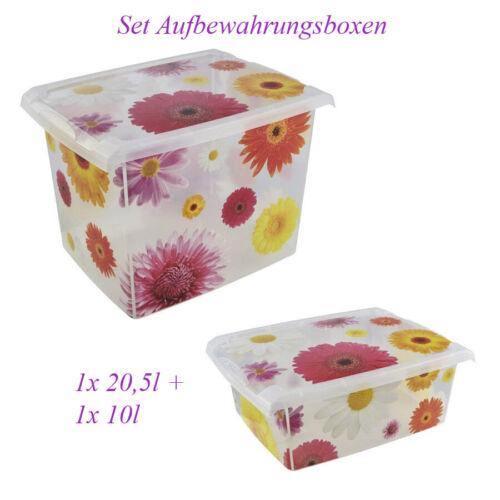 Set Aufbewahrungsboxen mit Deckel Keeeper 20l 10,5l Spielzeug Box  Kiste 1153437