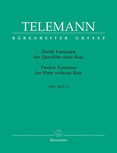 Charmant Telemann Fantasias 12 Twv40 2-13 Hausswald Flûte-afficher Le Titre D'origine Peut êTre à Plusieurs Reprises Replié.
