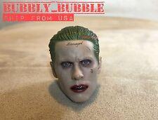 IN STOCK 1/6 Joker Head Sculpt Jared Leto Suicide Squad Batman For Hot Toys USA