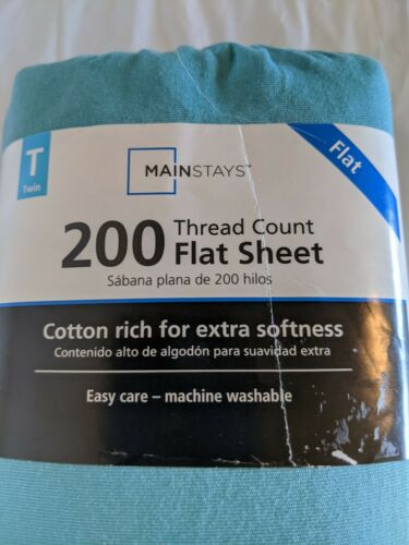 Ultra Soft Flat Twin Sheet Comfortable Bed Cover Moisture Wicking Quick Dry Txl