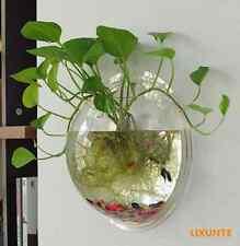 Clear Transparent Wall Hanging Bubble Aquarium Bowl Plant Grass Fish Tank Pot XT
