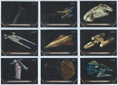 2018 Topps Star Wars Galactic Files Vehicles Insert You Pick Finish Your Set