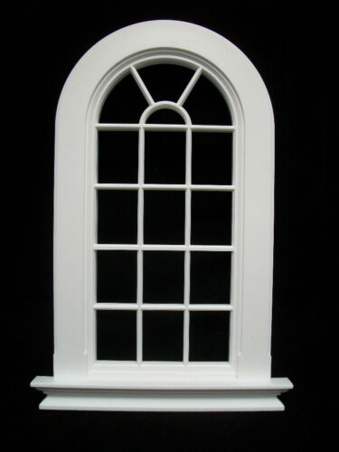 Window GEORGIAN 6 PANE ROUND TOP WINDOW  Jacksons Miniatures 1//12 scale B21