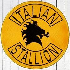Rocky Bathrobe Italian Stallion Big Logo Embroidered Patch Balboa for Back Drago