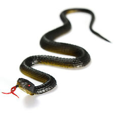 Exotic Realistic Rubber Toy Artificial Black Snakes Garden Props Prank Joke Gift