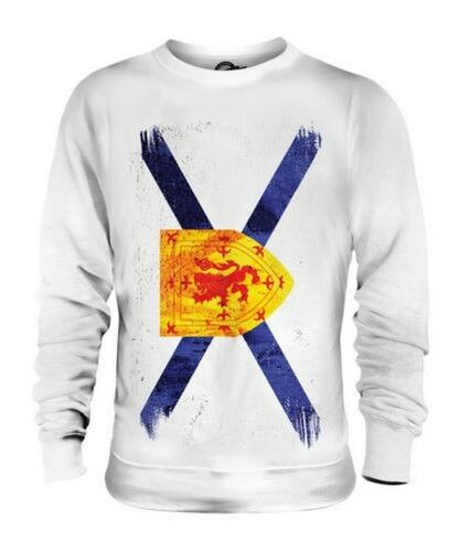 NOVA SCOTIA GRUNGE FLAG UNISEX SWEATER TOP NOVA SCOTIAN SHIRT JERSEY GIFT