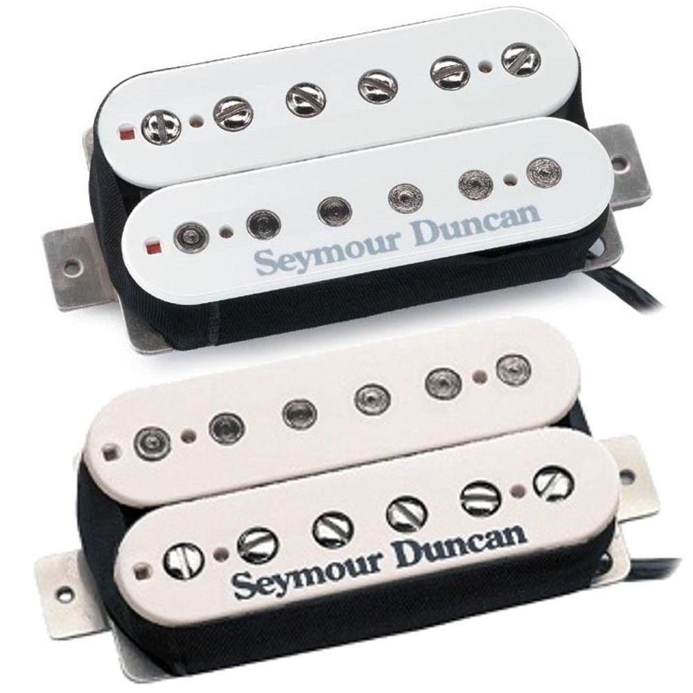 Seymour Duncan SH-5 SH-5 SH-5 Personalizado Puente y SH-2n Jazz Cuello Pastillas Humbucker Conjunto blancoo a9d782