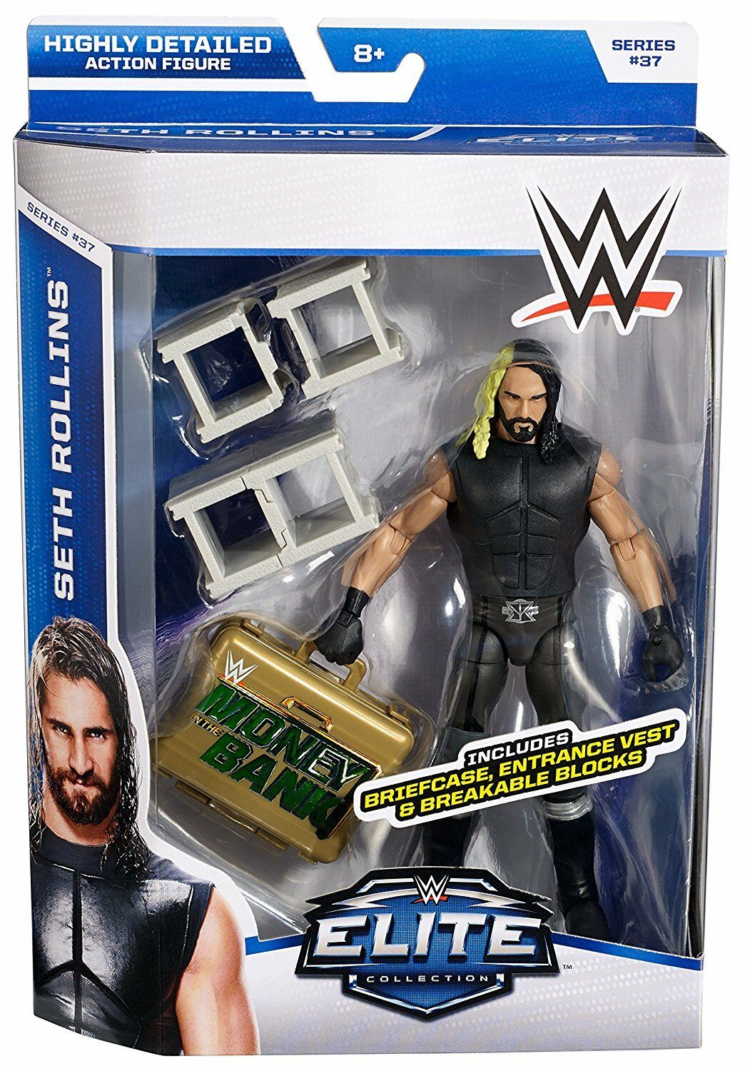 Official WWE Mattel Elite Series 37 Seth Rollins Wrestling Action Figure