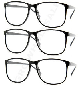 02d1503ccd56 3 Pairs NERD Smart Interview Black FAKE Glasses Thin Frame fashion ...