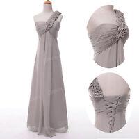 Stock Maternity Long Chiffon Formal Evening Party Wedding Bridesmaid Prom Dress