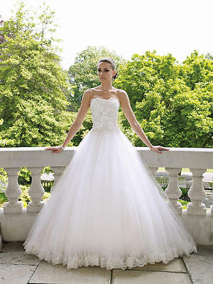 Elegant Lace Ball Gown Wedding Dresses Size 6 8 10 12 14 16 18 Custom Made