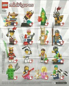 série 20 x 10 Blind bags 10 X LEGO ® Minifigures 71027 ~
