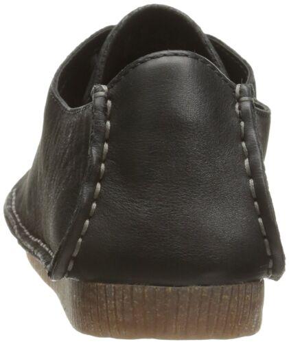5 nabuk Clarks piatte Janey nera Mae scarpe piatte pompe 696574319145 Artisan in pelle Womens 4 wSAPgg