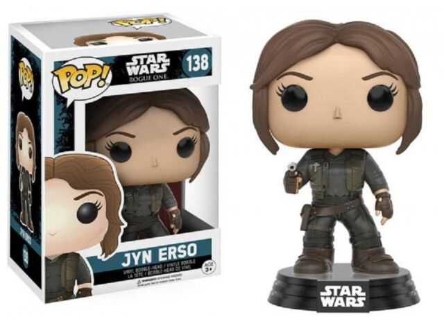 Funko Pop! Star Wars 138 Rogue One Jyn Erso Pop Vinyl Figure Bobble Head FU10449