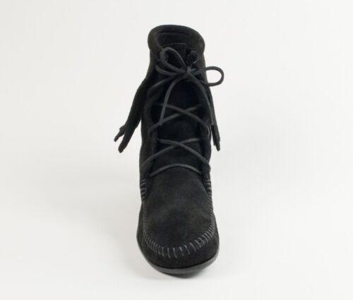 donna pelle scamosciata tacco con Stivaletto 429 Tramper Minnetonka Boots nera alto da in g14WX
