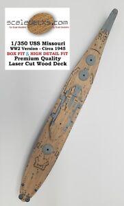 fits Tamiya kit Wood Deck for 1//350 Musashi BOX//HD LCD-36 by Scaledecks