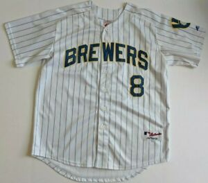 new style 3f7ee 55fe1 Details about Majestic Authentic Ryan Braun Milwaukee Brewers MLB Baseball  Jersey Size 50