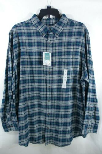 Croft and Barrow Men Flannel Shirts Big Tall Sizes Button Down Chest Pocket