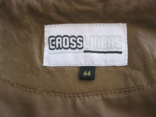 Liners Cross Jacke 44 42 Damen Gr Lederjacke Cognac Neu Lammnappalederjacke Uw6qdF