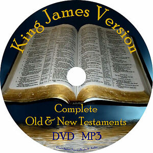 Details about BEST King James Version Audio Bible Complete KJV All 66 Books  1 MP3 DVD in Case