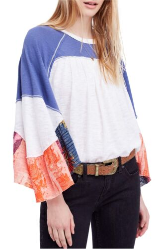 NWT Free People  Friday Fever Pattern Mix Top Retail $98