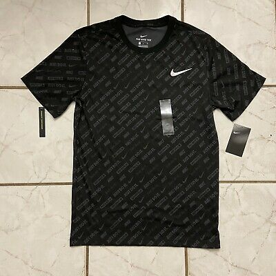 Nike Men's Size: Small Nike Just Do It All Over Print Shirt Blackgray NWT   eBay