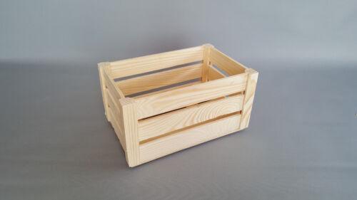 Plain Wood Crates Box Slatted Fruit Small Crate Storage Box Craft Decoupage