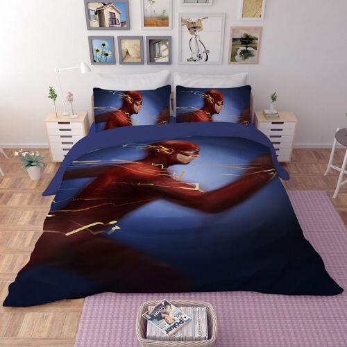 3D The Flash Kids Bedding Set Duvet Cover Pillowcase Quilt Cover Comforter Cover