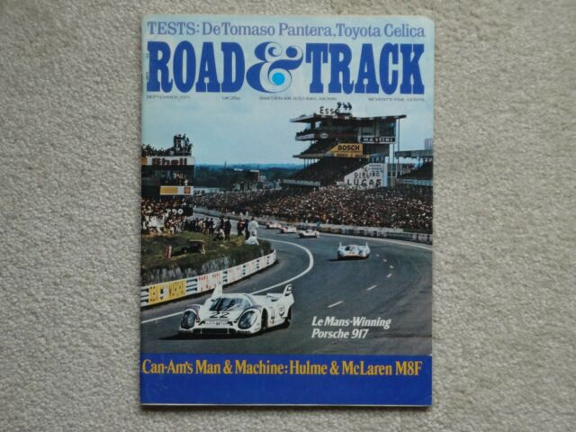 Road and Track Magazine September 1971, DeTomaso Pantera