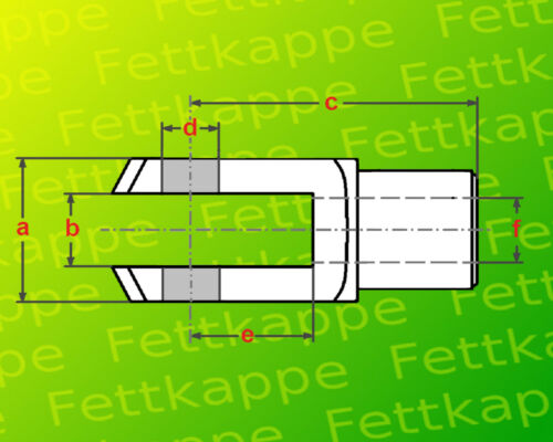 Gabelköpfe 4 x Gabelkopf 8x16 M8 verzinkt Gewinde M8 Gabelgelenk kurz