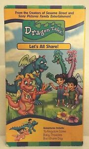 Dragon-Tales-Lets-All-Share-VHS-2000-To-Kingdom-Come-Baby-Troubles-Bad-Share
