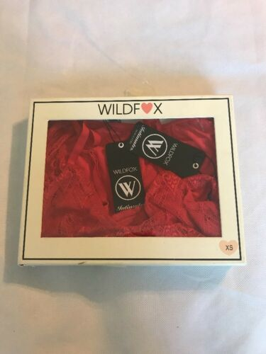 Short Wildfox Bralette Set xs Pj b529 e Lace Trim Pennino Love' 'first Red Comes pwqaU8a