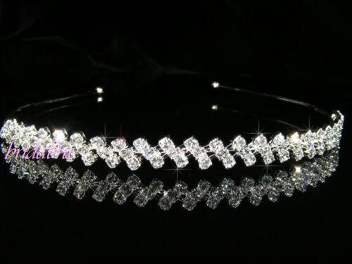 SALE Bridesmaid  Prom Wedding Flower Girl Silver Plated Headband Tiara Gift T049
