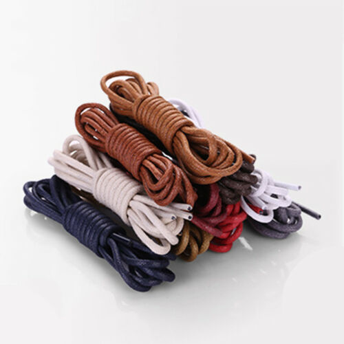1Pair 60-180cm Round Waxed Shoe Laces Shoelace Leather Cord String Replacement