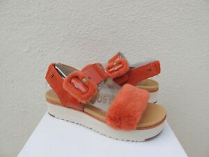 74399db1085 Details about UGG FLUFF CHELLA LE FLUFF PATENT LEATHER PLATFORM SANDALS, US  9.5/ EUR 40.5 ~NIB