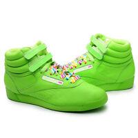 Reebok Women Shoes Freestyle HI top Rainbow 2-176159 Green