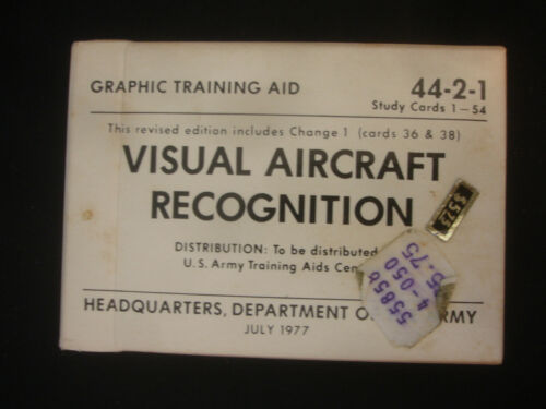 1977 US Army Graphic Training Aid 4421 Aircraft Recognition Playing Cards