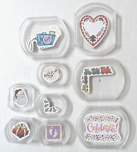 Fiskars-Rubber-Stamps-Stacking-Baby-Footprints-Christmas-Heart-Celebrate-Lot