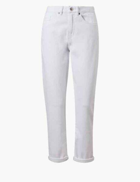100% Vero Bianco & Spencer Marks Slim Boot Cut Jeans Con Dettaglio Metallico Nuovo Senza Etichetta Sz 14 Brevi Per Vincere Una Grande Ammirazione