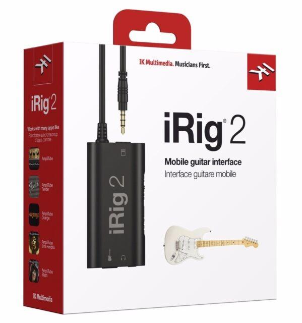 NEW IK Multimedia iRig 2 Guitar Interface Adapter for iPhone/iPad/Mac/Android