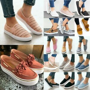 Women-039-s-Flats-Summer-Sneakers-Loafers-Slip-On-Comfy-Trainers-Pumps-Casual-Shoes