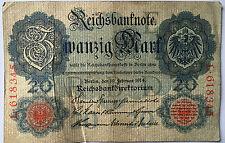 20 Zwanzig Mark 1914  Ro47a 6 stellig Deutsches Reich (47)