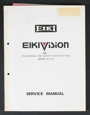 EIKI SERVICE MANUAL FOR PROGRAMABLE VIDEO CASSETTE DISPLAY SYSTEM EV-10