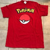 Authentic Nintendo Pokemon Pokeball Unisex Red T-shirt Adult S Small W/ Tag