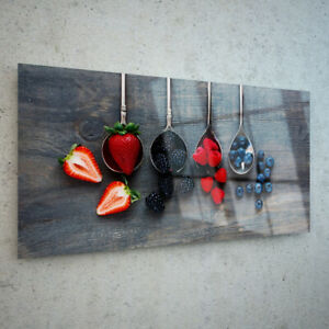 ANY-SIZE-Wall-Art-Glass-Print-Canvas-Picture-Berries-Fruits-Desk-Spoon-47984362